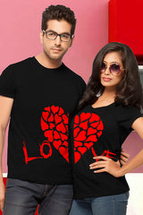 Love Heart Couple Tees