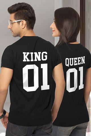 King Queen Couple Tshirt