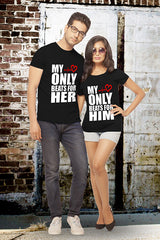 Heart Beats Couple Tshirt