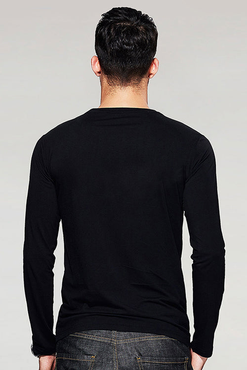 Straight outta Mumbai Full Sleeve Black T Shirt