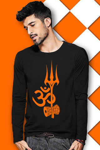 Trishul Full Sleeve Black T Shirt