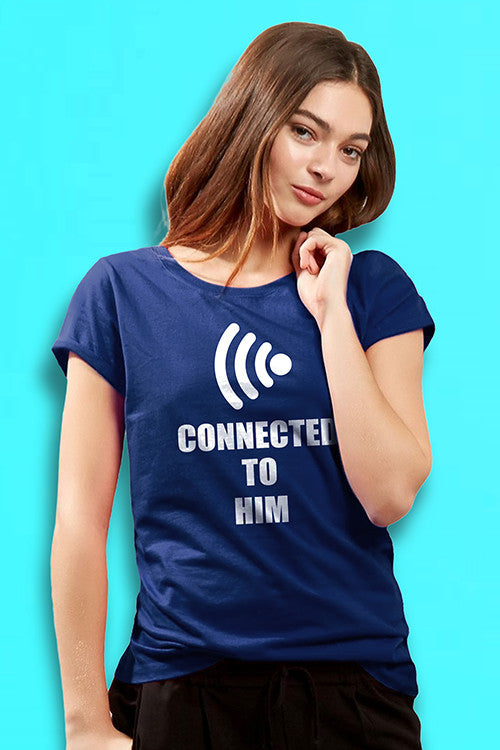 Connected To Her Connected To Him Couple Tees