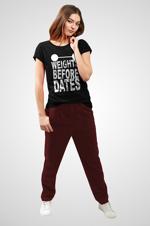 Weigh Before Dates T shirt