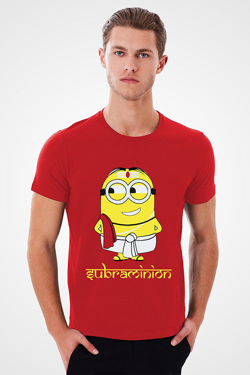 SUBHRAMINION Red T-Shirt