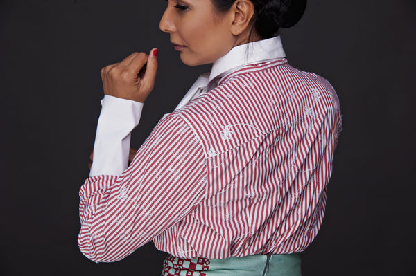 COTTON BASIC BLOUSE WITH TIE