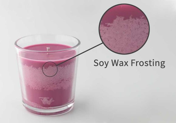 how to prevent frosting on soy candles