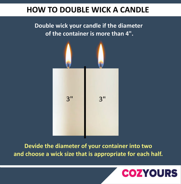 how to double wick a candle