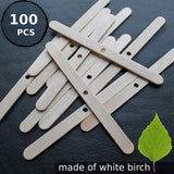 Wooden Candle Wick Holders, 100 Pack