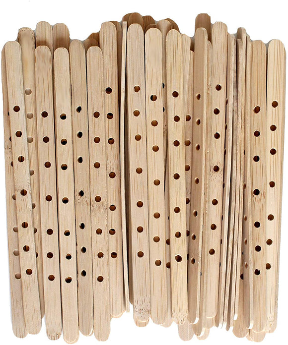 Cozyours Wooden Candle Wick Holders for Large & Multiwick Candles, 100/Pack