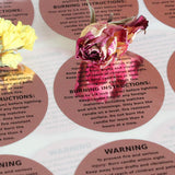 Cozyours Rose Gold Candle Warning Labels 1.5 Inch, 500 pcs Stickers for Candle Making