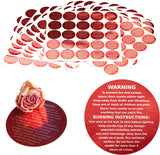 Cozyours Red Candle Warning Labels 1.5 Inch, 500 pcs, Stickers for Candle Making