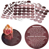 Cozyours Brown Candle Warning Labels 500 Pcs, Stickers for Candle Making