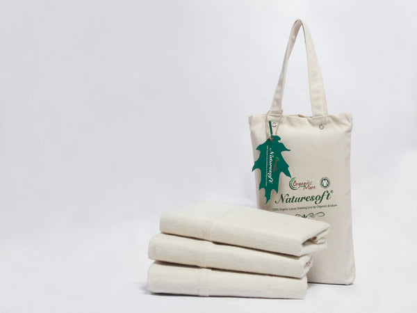 Naturesoft Organic Natural Flannel Pillowcase Set