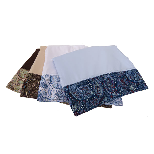 Sposh Microfiber Paisley Pillowcase Set