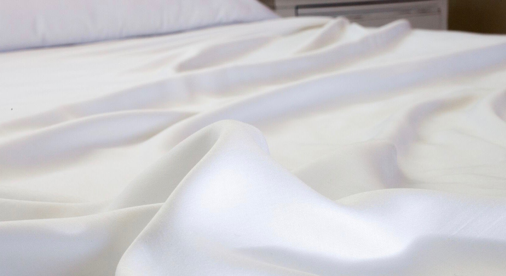 White duvet cover and sheets