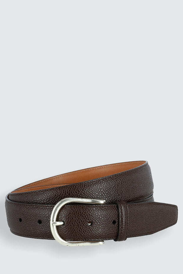 Princeton Pebble Calfskin Leather Belt