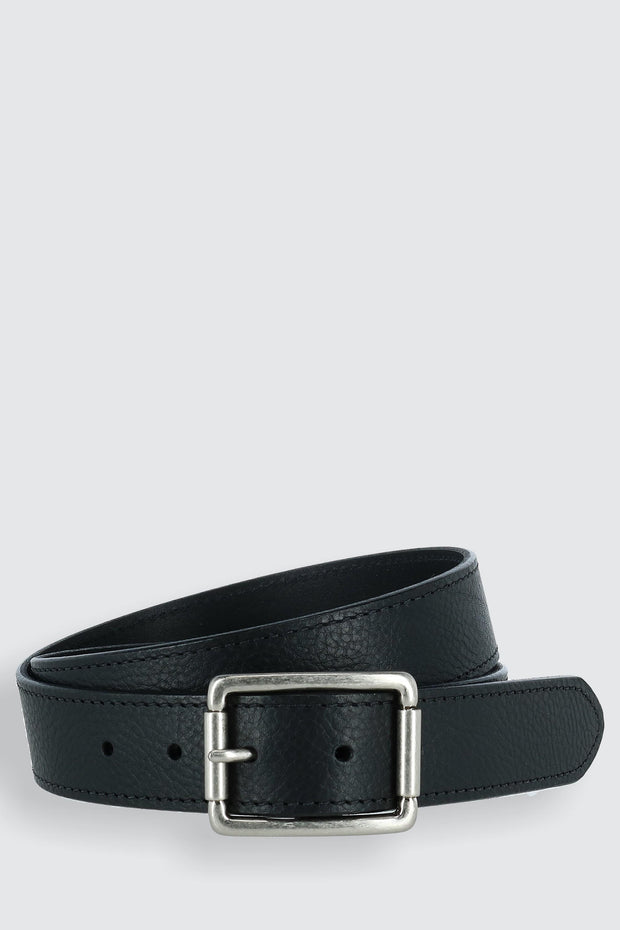 Newcastle Natural Grain Leather Belt with Roller Buckle