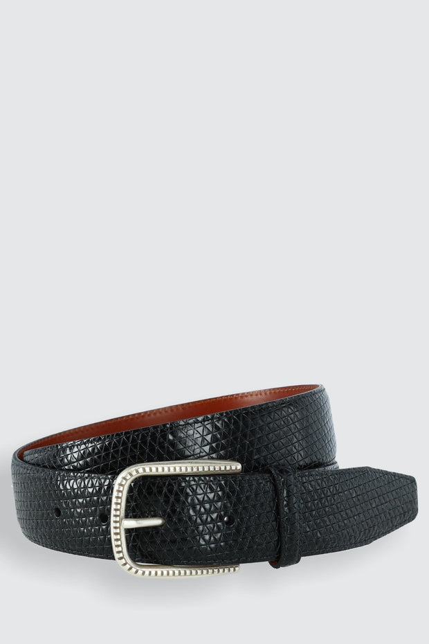 Basic Lux Trial Tri-Town Calfskin Dress Belt