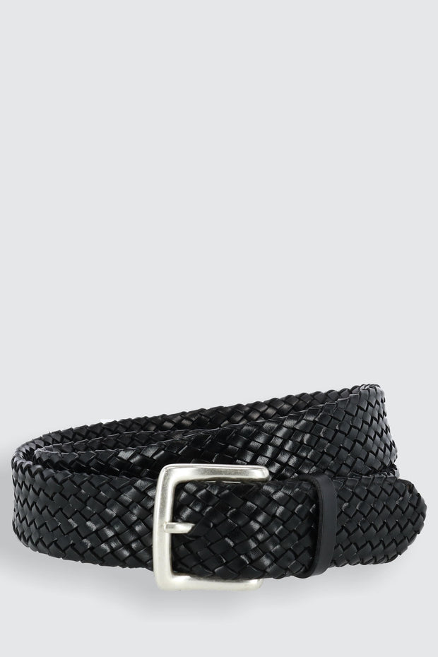 Toscana Leather Tubular Braided Belt