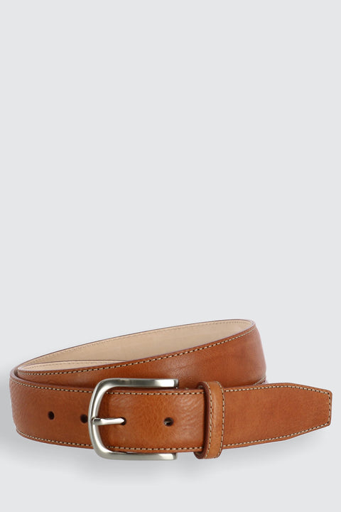 Brescia Boxcalf Casual Belt with Contrast Stitch