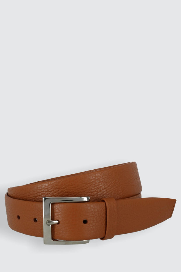 Parma Buttercalf Grain Tubular Leather Dress Belt