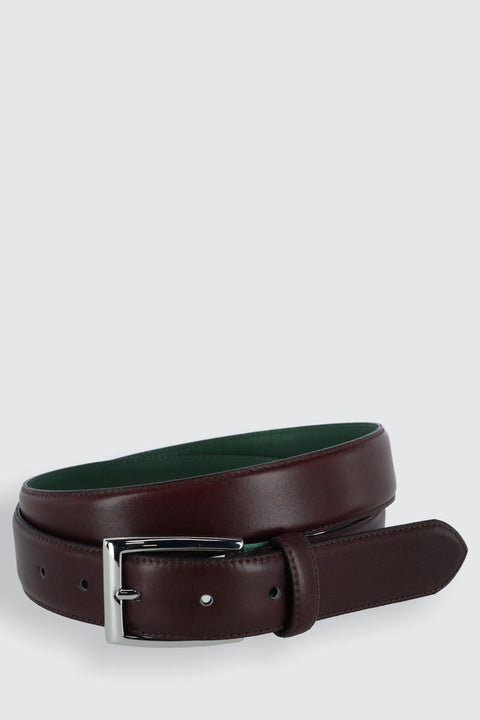 The Edward Slim Calfskin Leather Belt