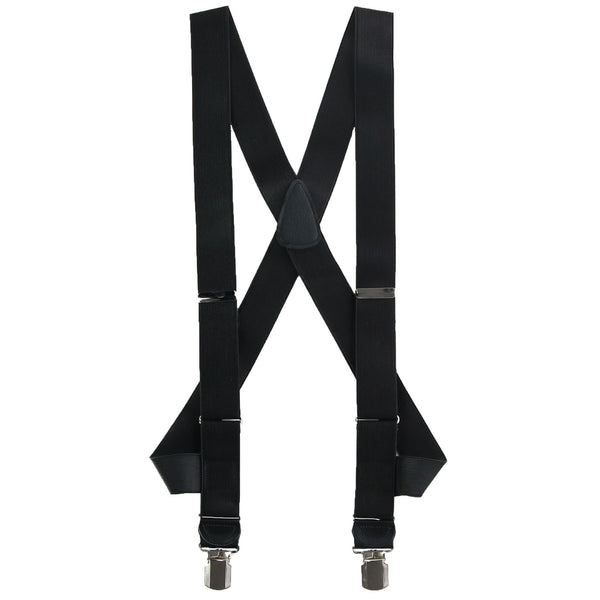 Side Clip Satin Braces with Large Clips