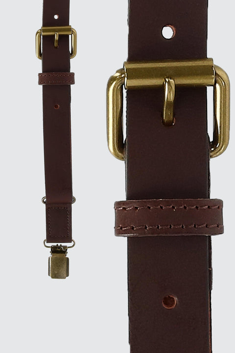 The Bristol Clip End Leather Braces With Elastic Backstrap
