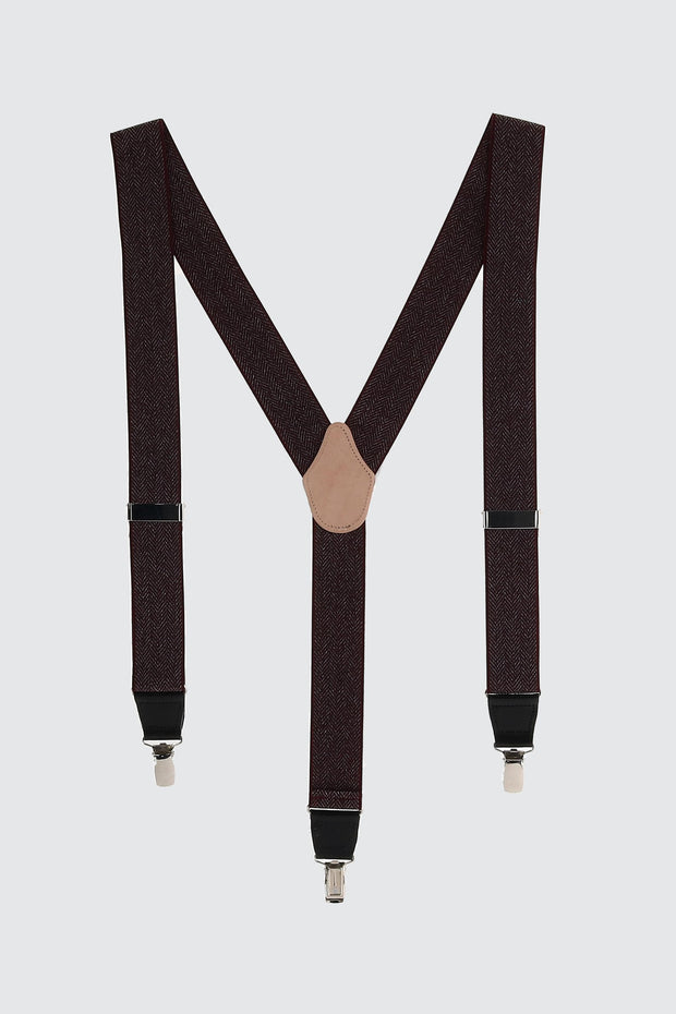 NoHo Herringbone 35mm Clip End Elastic Braces