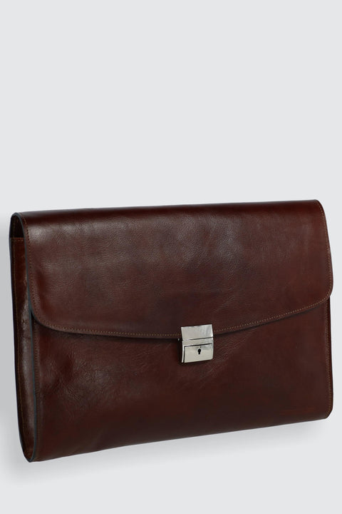 Hand Stained Italian Leather Underarm Briefcase