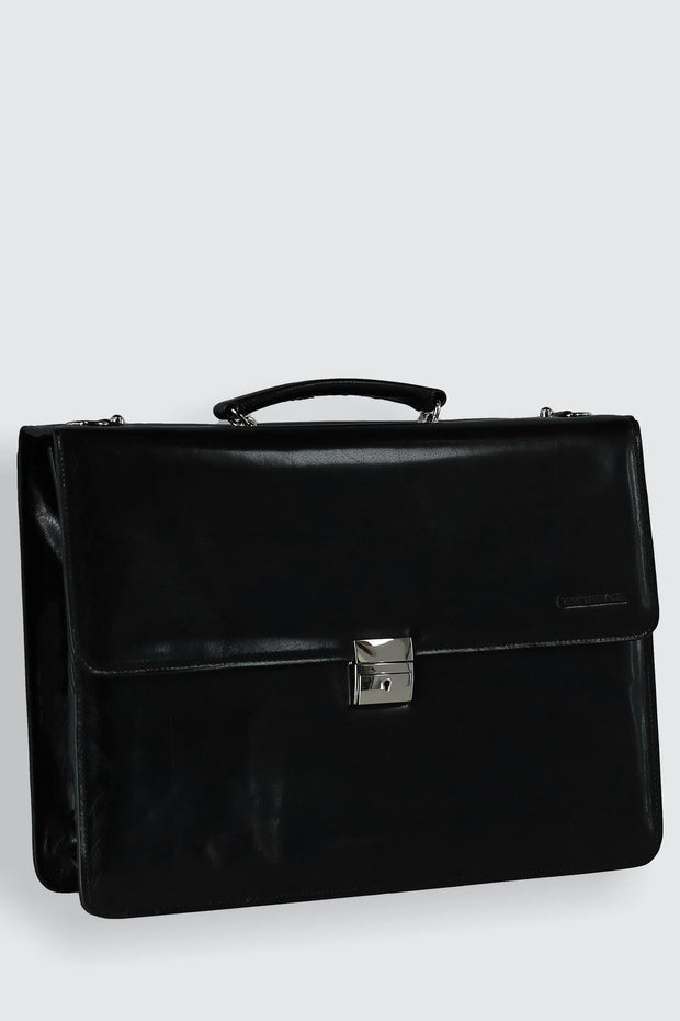 Hand Stained Vegetable Tanned Italian Leather Briefcase