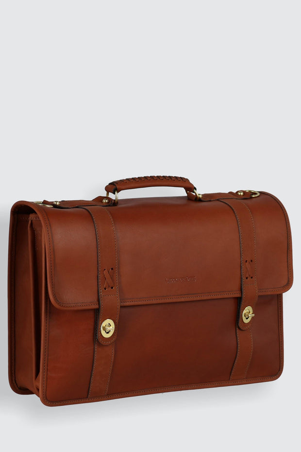 American Bullhide Leather Messenger Briefcase
