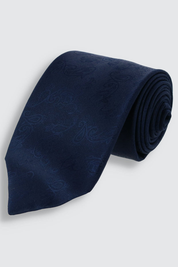 The Heirloom Silk and Wool Jacquard Paisley Tie