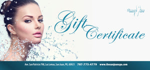 Gift Card - Certificado De Regalo - The San Juan Spa