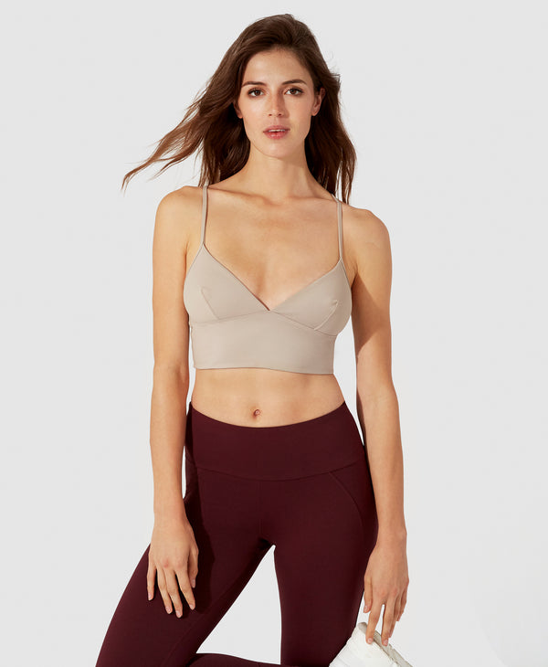 Cara Crop Top - Beige