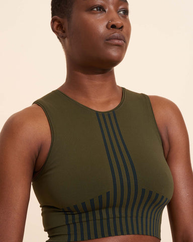 Juliette Crop Top - Olive