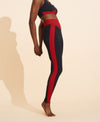 Agnes Compression Legging - Black / Merlot