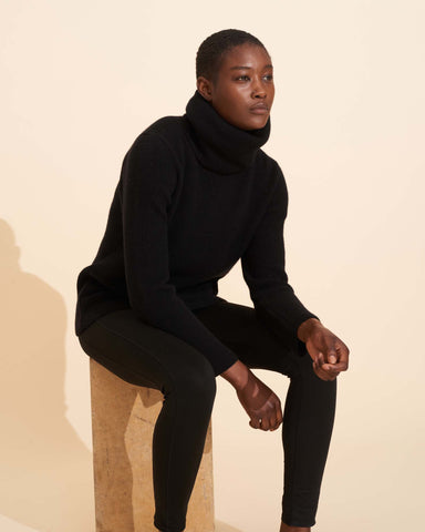 Ombeline Roll Neck - Black
