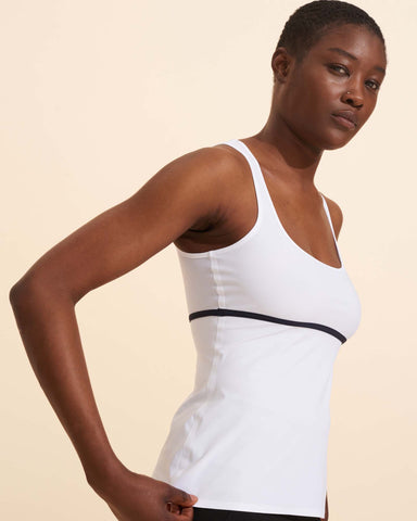 Sixtine Tank Top - White / Navy