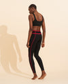 Mara Legging - Black / Merlot