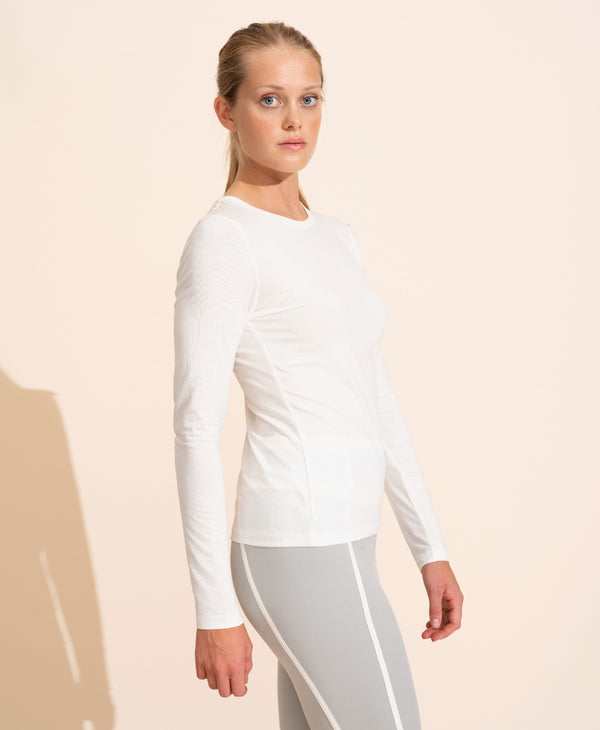 Cecile Long Sleeves Top - White