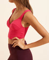 Jade Crop Top - Magenta