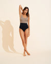 Victoire Swimsuit - Taupe / Black