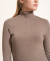 Alienor Merino Zip Up Top - Taupe