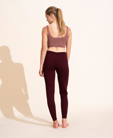 Bertille Merino Trousers - Prune