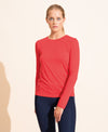Cecile Long Sleeves Top - Scarlet