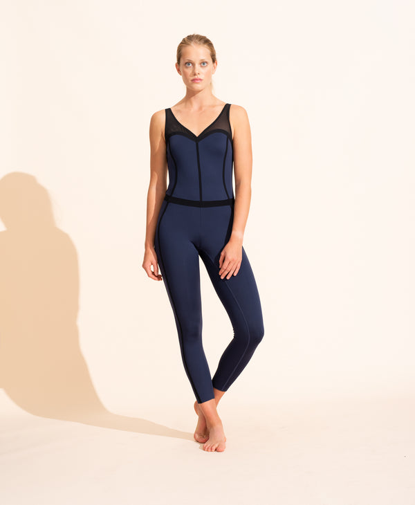 Corset Bodysuit - Navy / Black