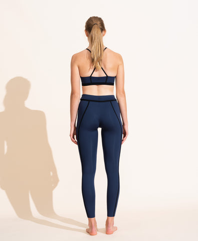 Corset Legging - Navy / Black
