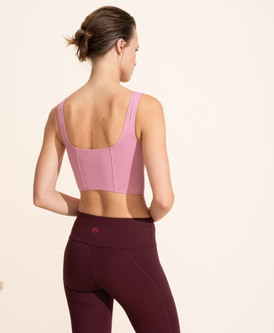 Jade Crop Top - Ballet Pink