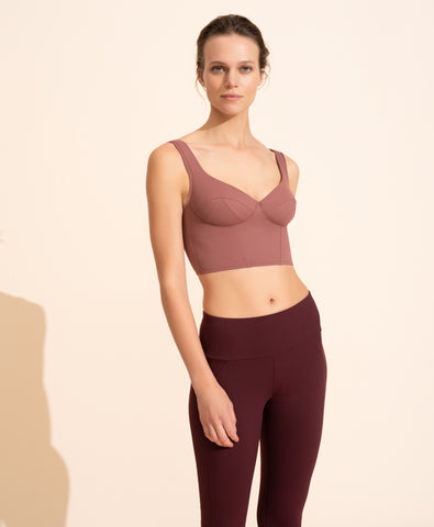 Jade Crop Top - Mauve